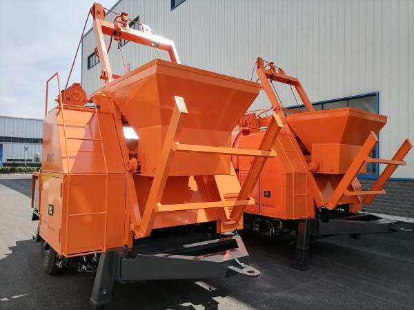 Two Sets of AIMIX Diesel Concrete Mixer Pumps
